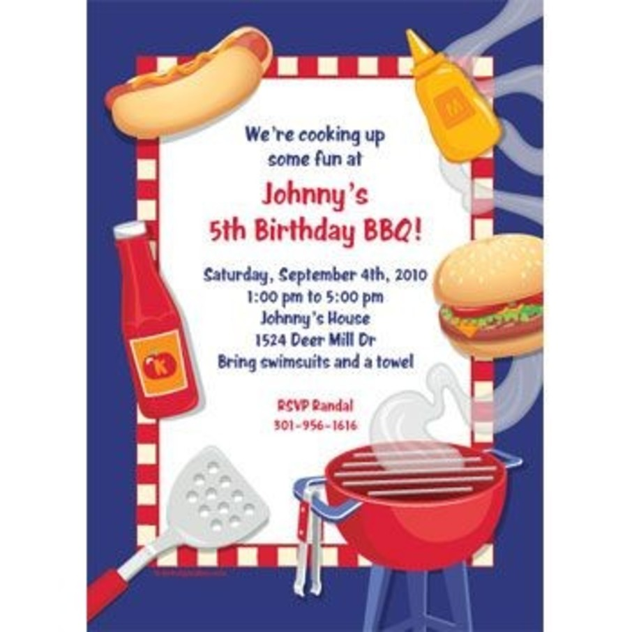 View larger image of Backyard Bbq Personalized Invitation (each)