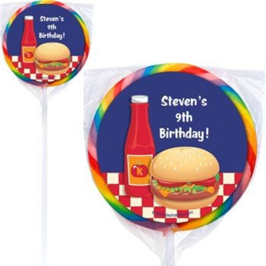 View larger image of Backyard Bbq Personalized Lollipops (pack of 12)