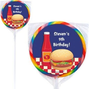 Backyard Bbq Personalized Lollipops (pack of 12)