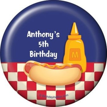 Backyard Bbq Personalized Magnet (each)