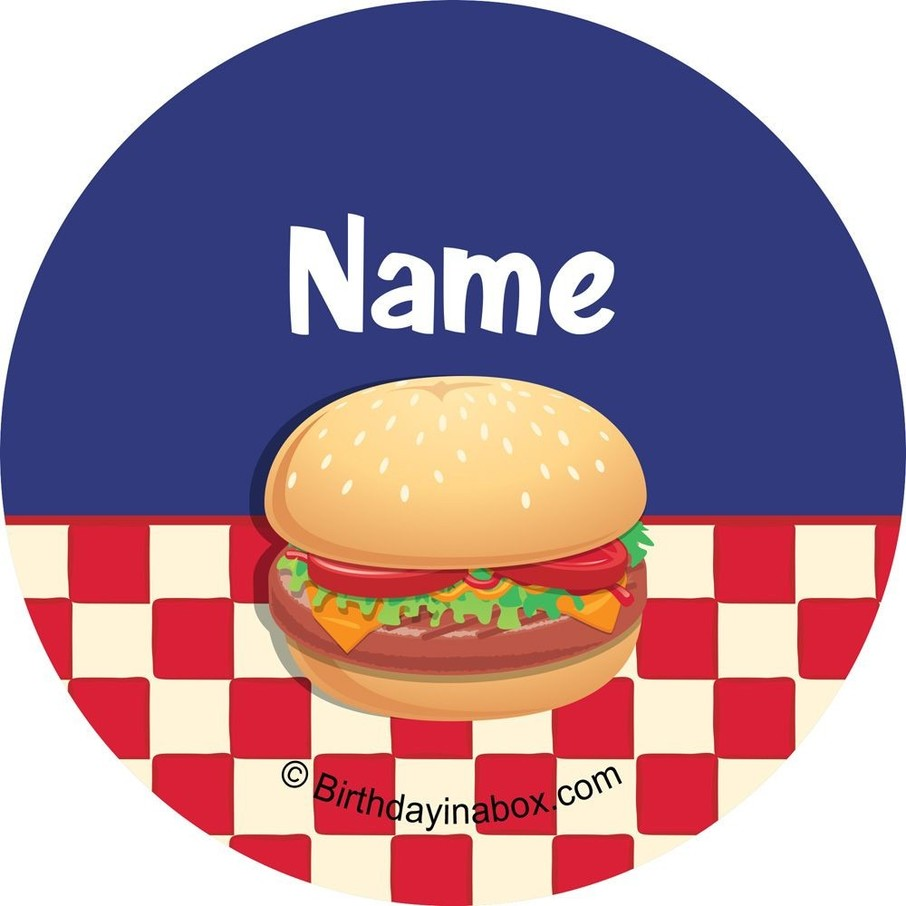View larger image of Backyard BBQ Personalized Mini Stickers (Sheet of 24)