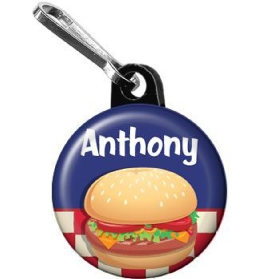 View larger image of Backyard Bbq Personalized Mini Zipper Pull (each)