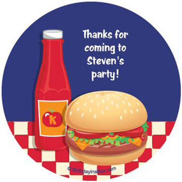 Backyard Bbq Personalized Stickers (sheet of 12)