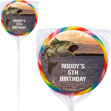 Bait 'n Hook Personalized Lollipops (12 Pack)