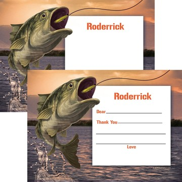 Bait 'N Hook Personalized Thank You Note (Each)