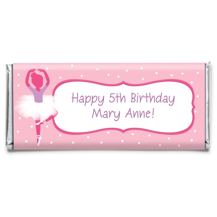 View larger image of Ballerina Personalized Candy Bar Wrapper (each)