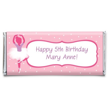 Ballerina Personalized Candy Bar Wrapper (each)