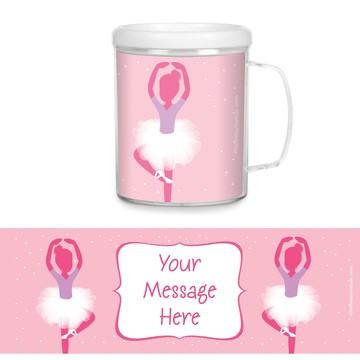 Ballerina Personalized Favor Mugs (Each)