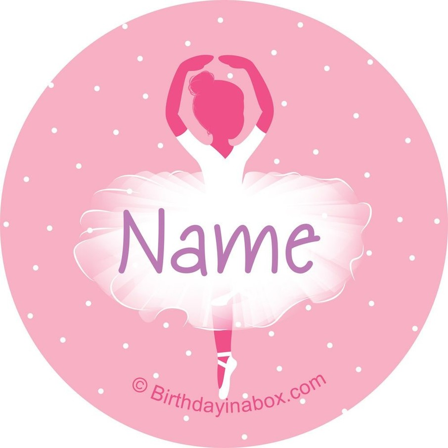 View larger image of Ballerina Personalized Mini Stickers (Sheet of 24)