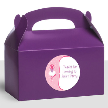 Ballerina Personalized Treat Favor Boxes (12 Count)