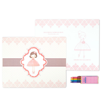 Ballerina Tutu Activity Placemat Kit for 4
