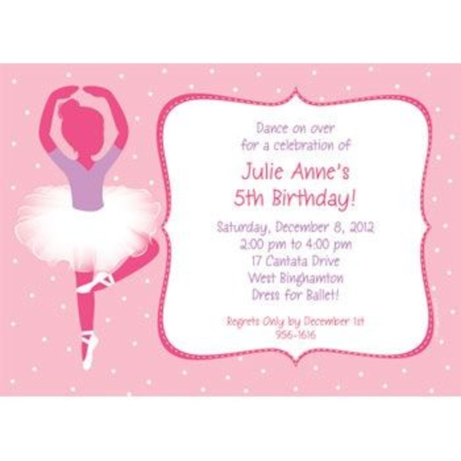 View larger image of Ballet Personalized Invitation (each)