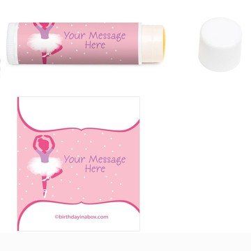 Ballet Personalized Lip Balm (12 Pack)