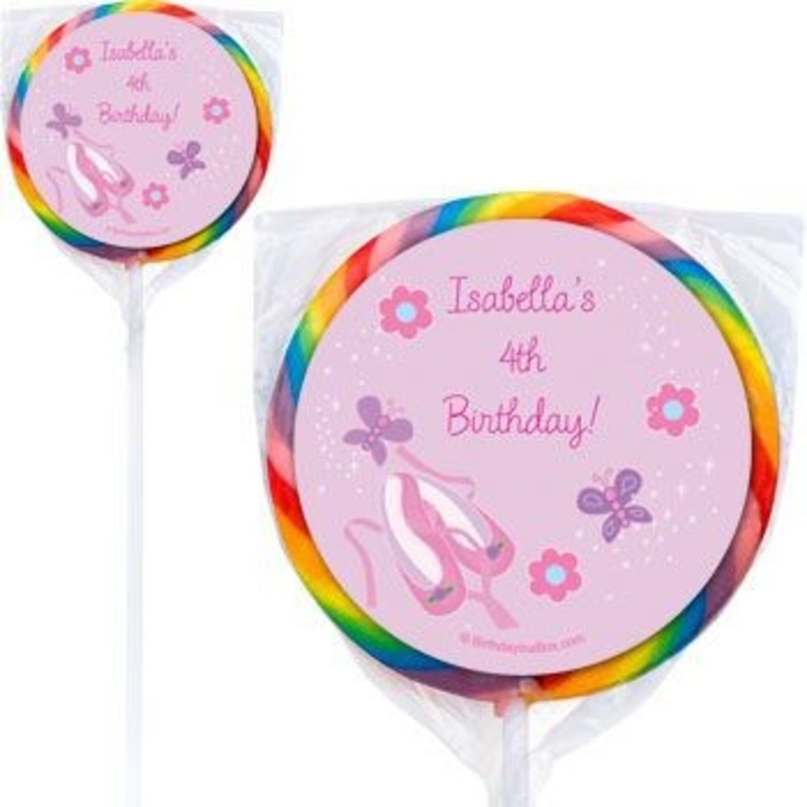 View larger image of Ballet Personalized Lollipops (pack of 12)