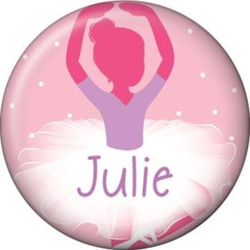 Ballet Personalized Mini Button (each)