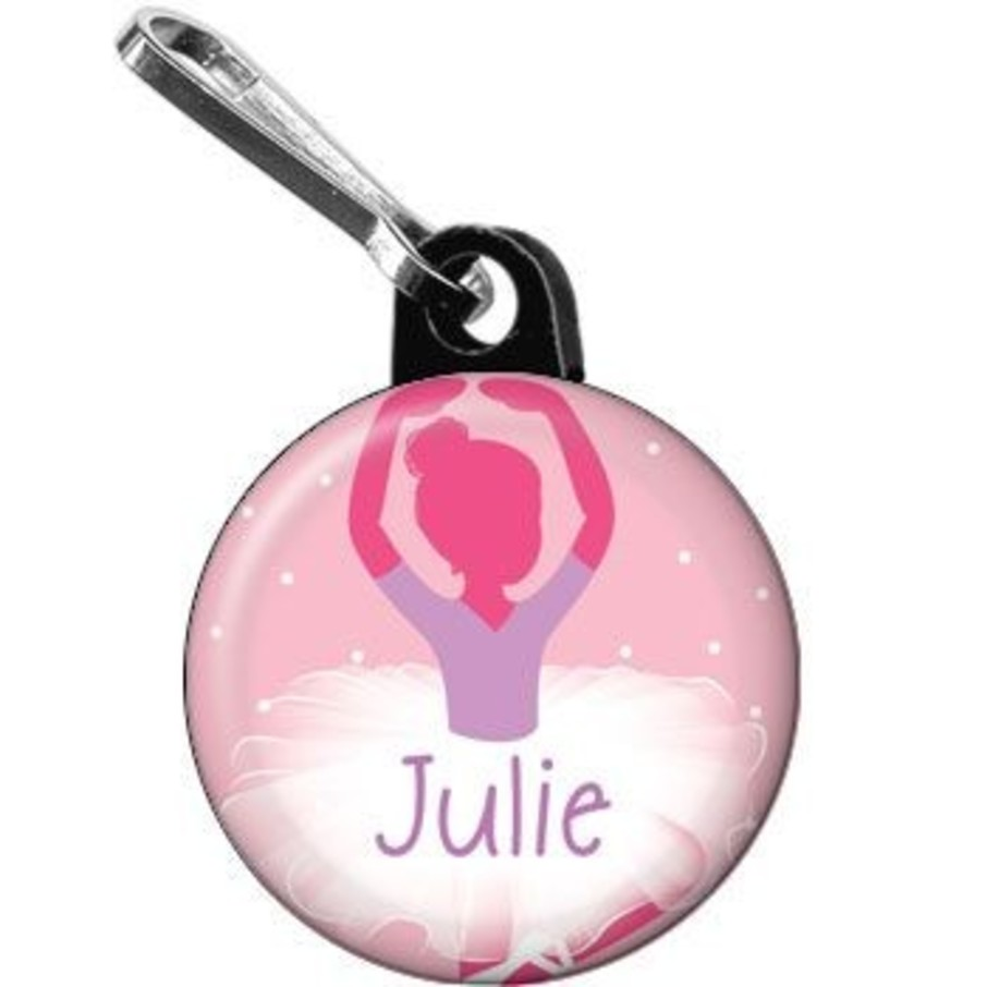 View larger image of Ballet Personalized Mini Zipper Pull (each)