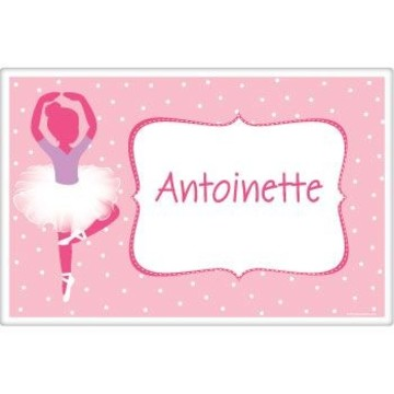 Ballet Personalized Placemat (each)