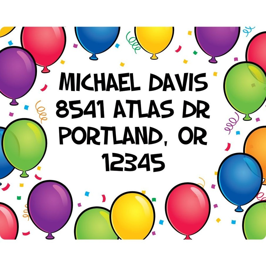View larger image of Balloon Fun Address Labels (Sheet Of 15)