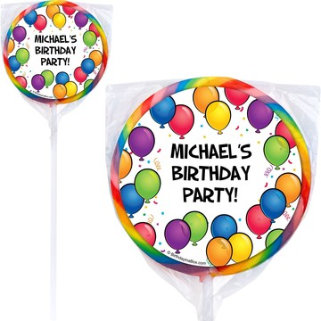 Balloon Fun Lollipops (Pack Of 12)