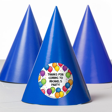 Balloon Fun Personalized Party Hats (8 Count)