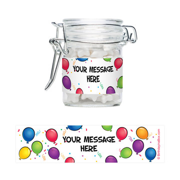 Balloon Fun Personalized Swing Top Apothecary Jars (12 ct)