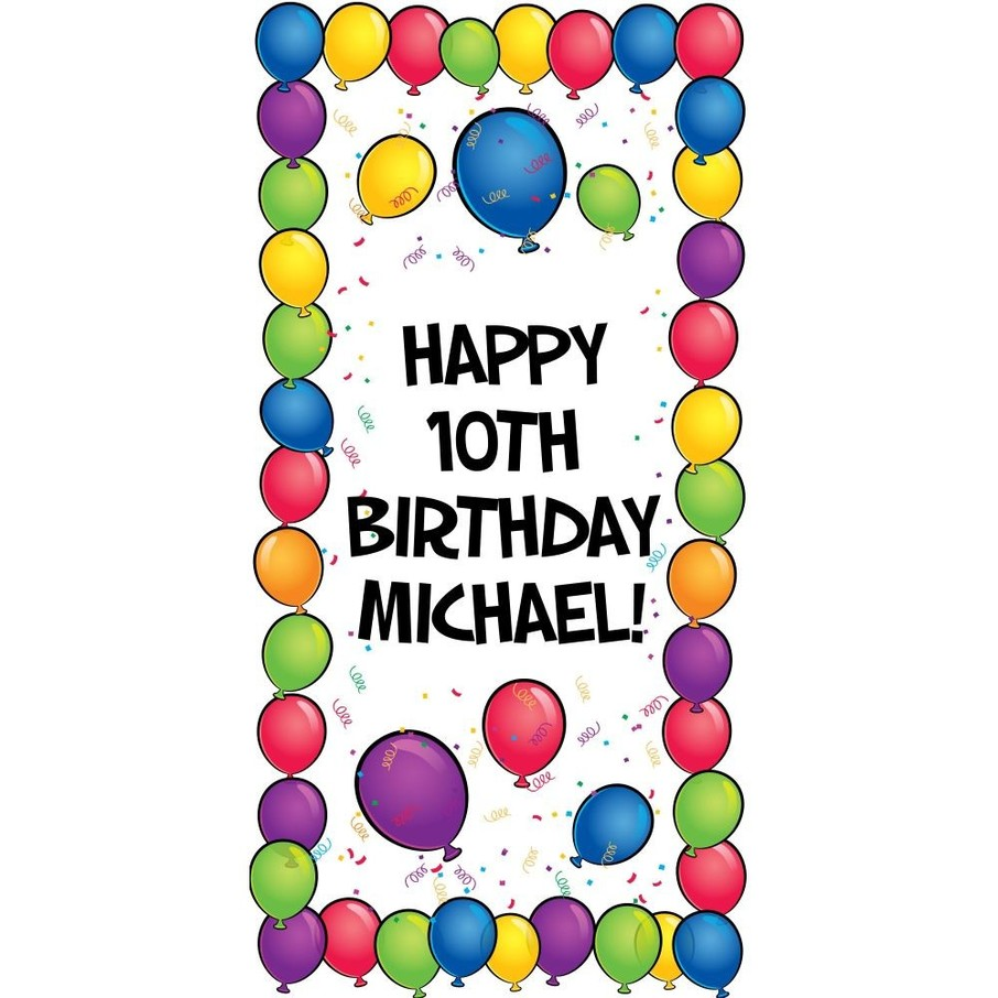 """View larger image of Balloons Personalized Oversized Banner 30x60"""""""