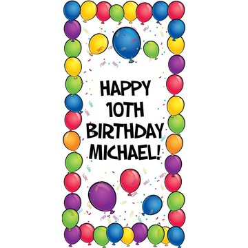 Balloons Personalized Oversized Banner 30x60""