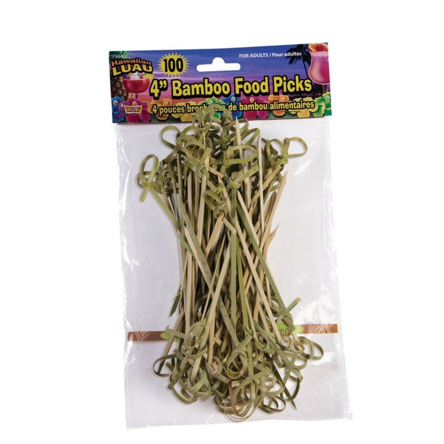 "View larger image of Bamboo Tropical Luau 3.5"" Food Picks (100 Count)"