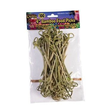 "Bamboo Tropical Luau 3.5"" Food Picks (100 Count)"