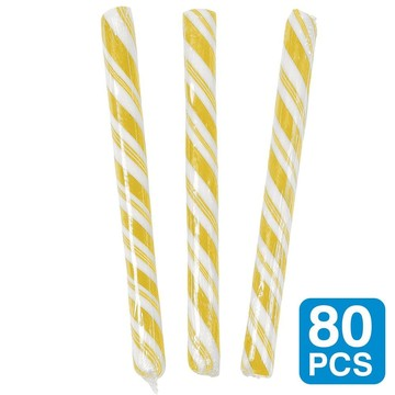 "Banana Yellow 5"" Candy Sticks (80 pack)"