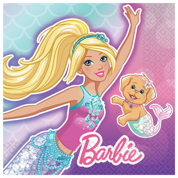 Barbie Mermaid Beverage Napkins (16)