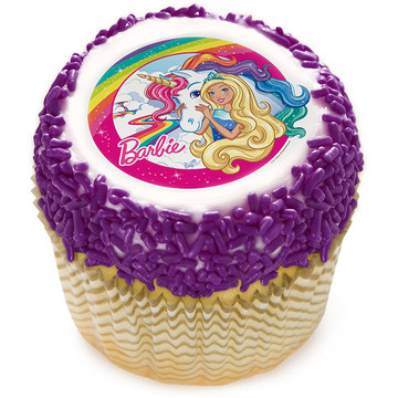 "Barbie & Unicorn 2"" Edible Cupcake Topper (12 Images)"