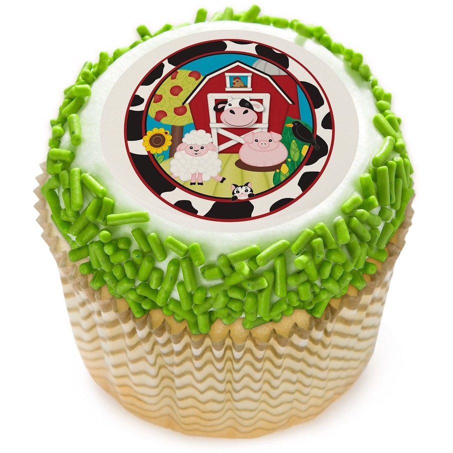 "View larger image of Barnyard 2"" Edible Cupcake Topper (12 Images)"