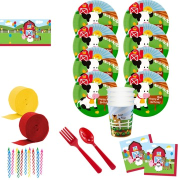 Barnyard 2nd Birthday Deluxe Tableware Kit (Serves 8)
