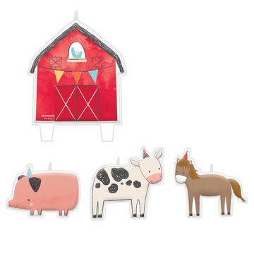 Barnyard Birthday Candle Set (4)