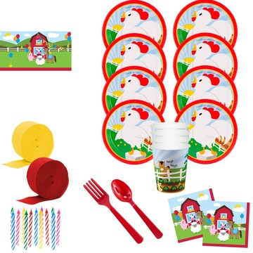 Barnyard Deluxe Tableware Kit (Serves 8)