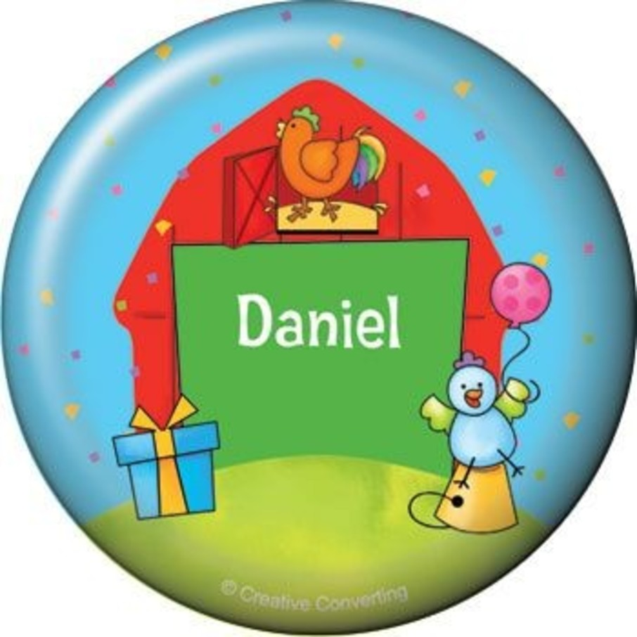 View larger image of Barnyard Personalized Button (each)