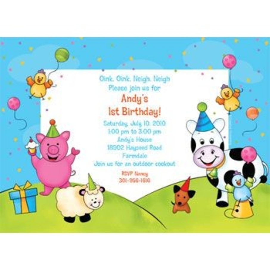 View larger image of Barnyard Personalized Invitation (each)