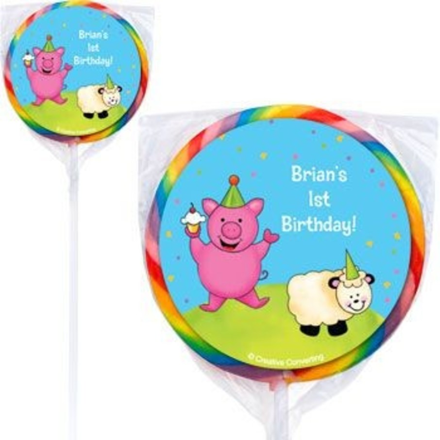 View larger image of Barnyard Personalized Lollipops (pack of 12)