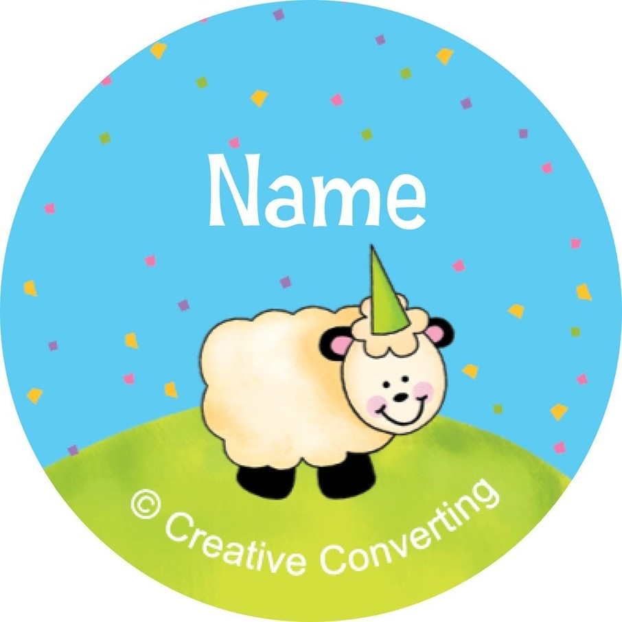 View larger image of Barnyard Personalized Mini Stickers (Sheet of 24)