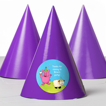 Barnyard Personalized Party Hats (8 Count)
