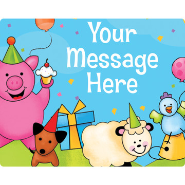 Barnyard Personalized Rectangular Stickers (Sheet of 15)