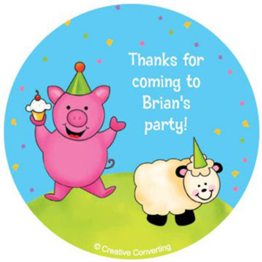 View larger image of Barnyard Personalized Stickers (sheet of 12)