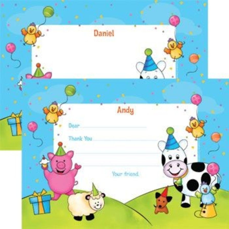 View larger image of Barnyard Personalized Thank You Note (each)