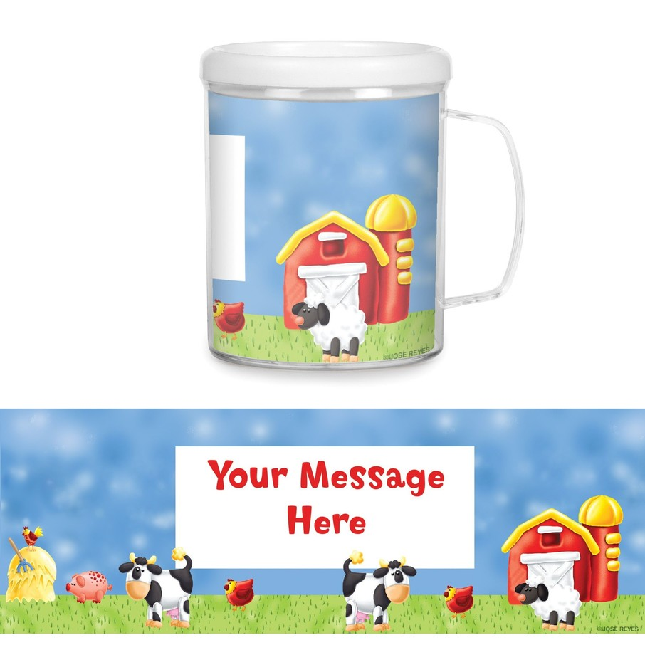 View larger image of Barnyard Plastic Personalized Favor Mugs (Each)