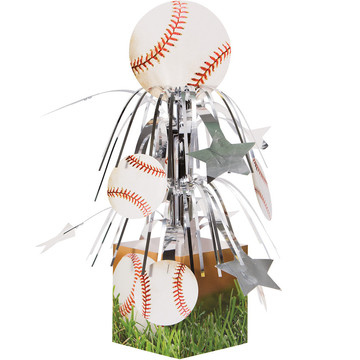 Baseball Foil Centerpiece (Each)