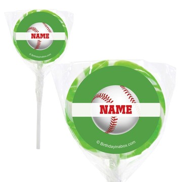 "Baseball Party Personalized 2"" Lollipops (20 Pack)"