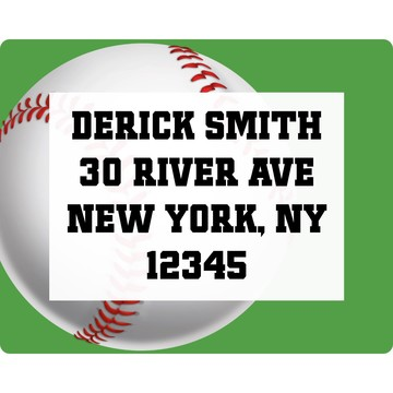 Baseball Party Personalized Address Label