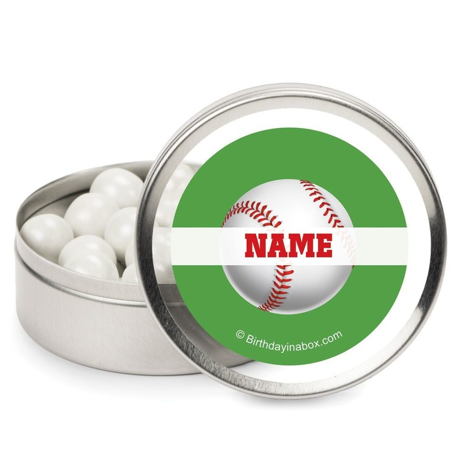 View larger image of Baseball Party Personalized Candy Tins (12 Pack)