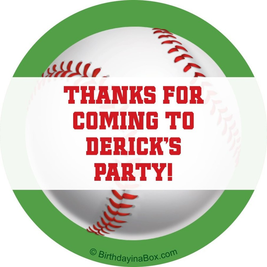 View larger image of Baseball Party Personalized Sticker